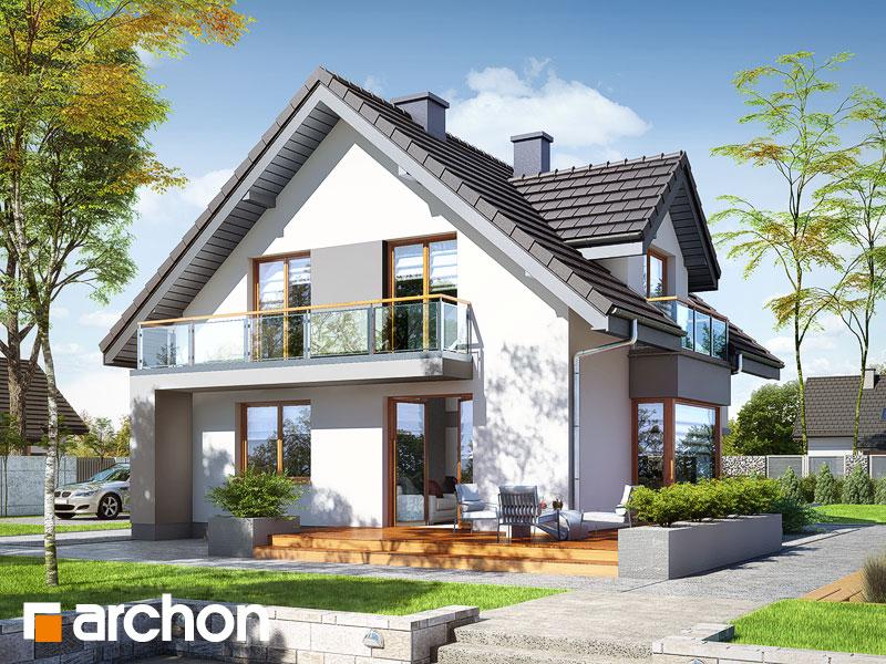 gotowy projekt Dom w rododendronach (PN) widok 2