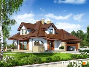 projekt Dom w zefirantach (G2) lustrzane odbicie 1