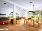 projekt Dom w zefirantach (G2) Strefa dzienna (wizualizacja 1 widok 1)