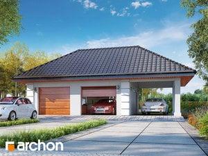 projekt Garaż 2-stanowiskowy G28