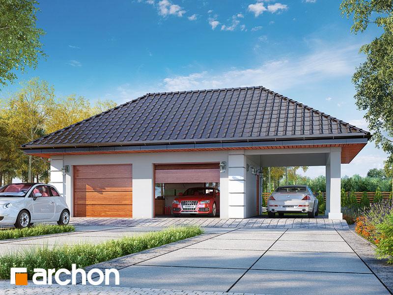 projekt Garaż 2-stanowiskowy G28 widok 1