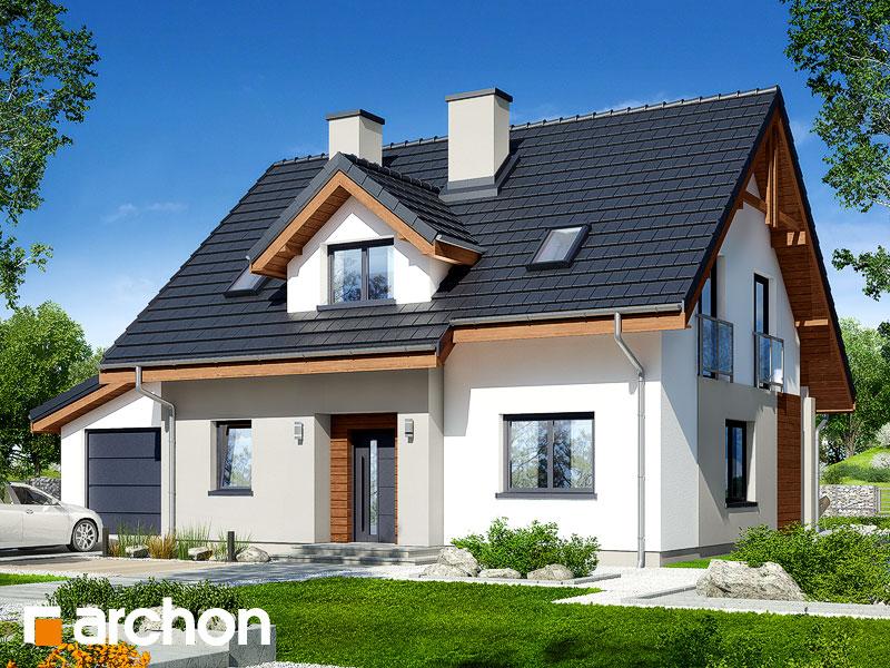 gotowy projekt Dom w zielistkach 5 (GA) widok 1