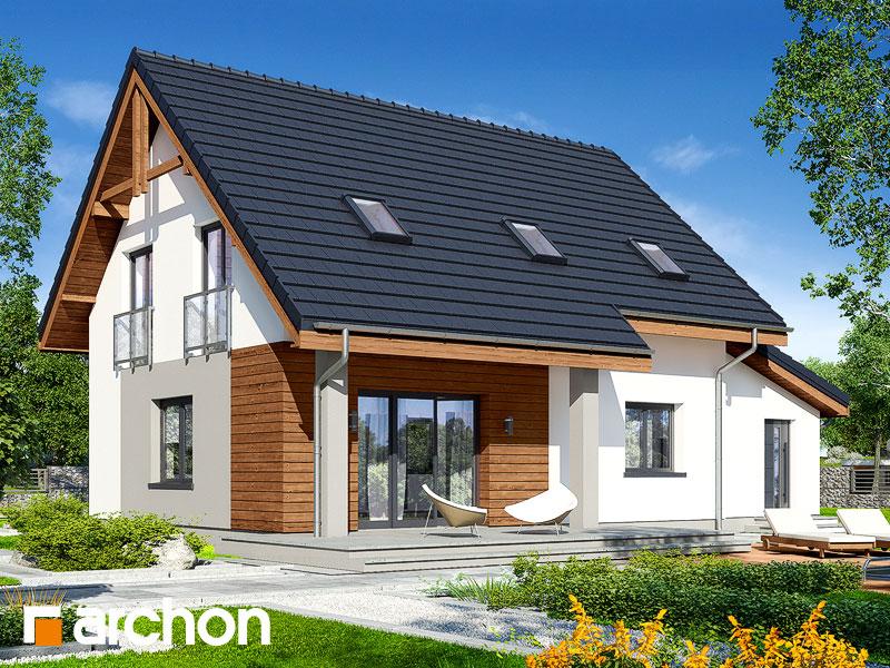 gotowy projekt Dom w zielistkach 5 (GA) widok 2