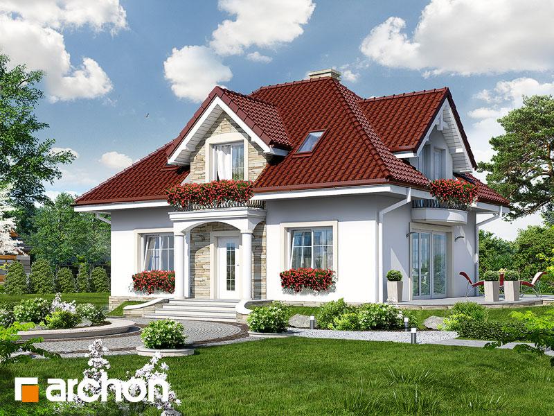 gotowy projekt Dom w werbenach 4 (W) widok 1