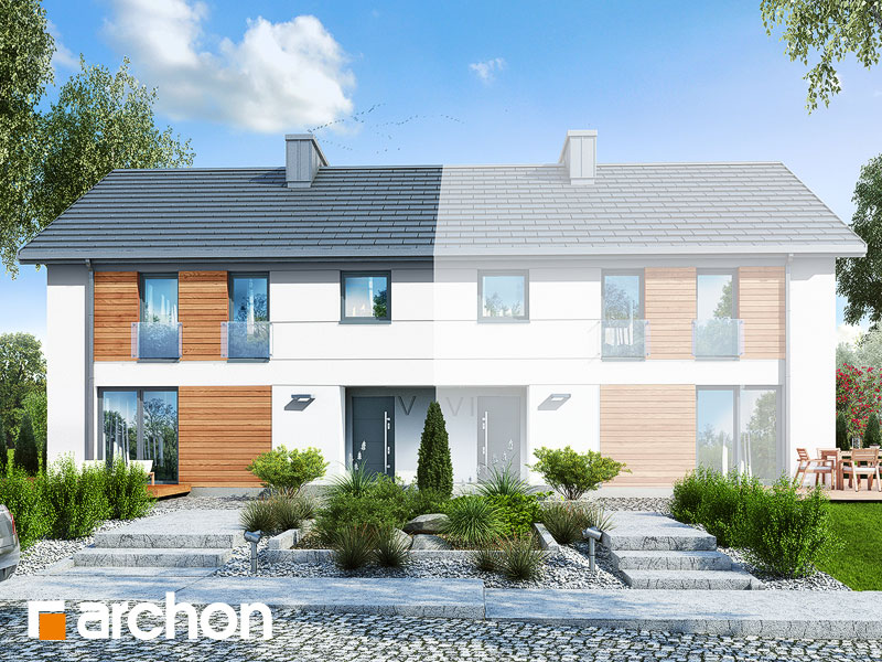 gotowy projekt Dom w czworolistach (R2B) widok 1