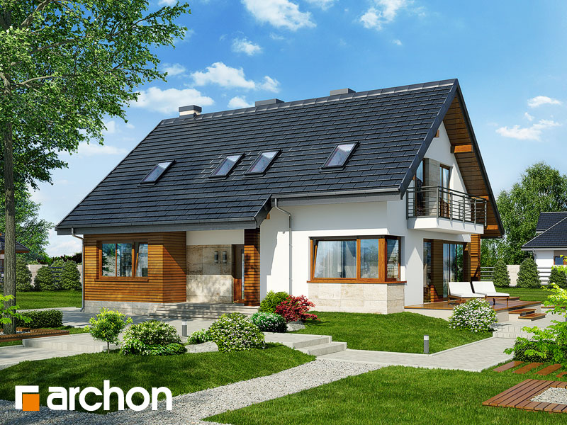 gotowy projekt Dom w idaredach 3 (T) widok 1