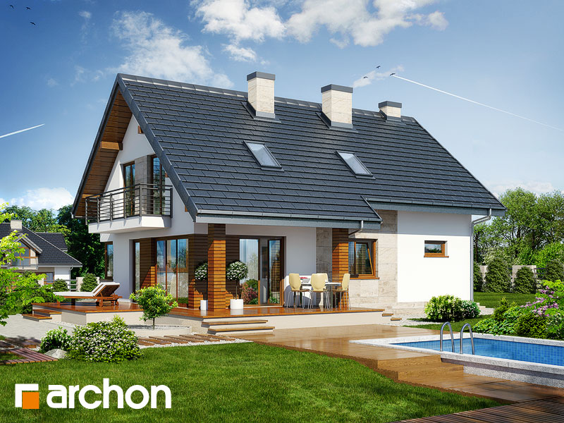 gotowy projekt Dom w idaredach 3 (T) widok 2