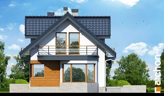 Elewacja boczna projekt dom w perlowce n ver 2  265