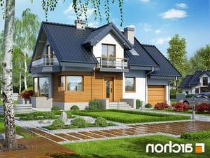 projekt Dom w perłówce (N) lustrzane odbicie 1