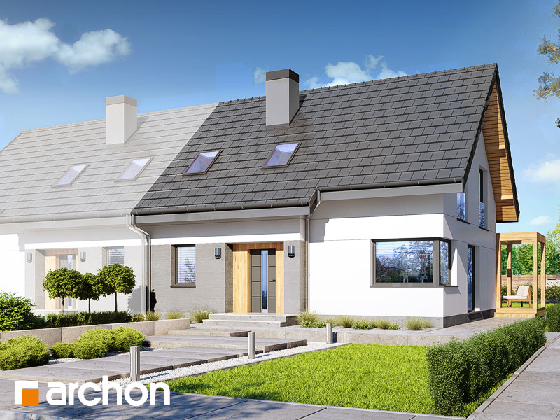 gotowy projekt Dom w zielistkach (AB) widok 1