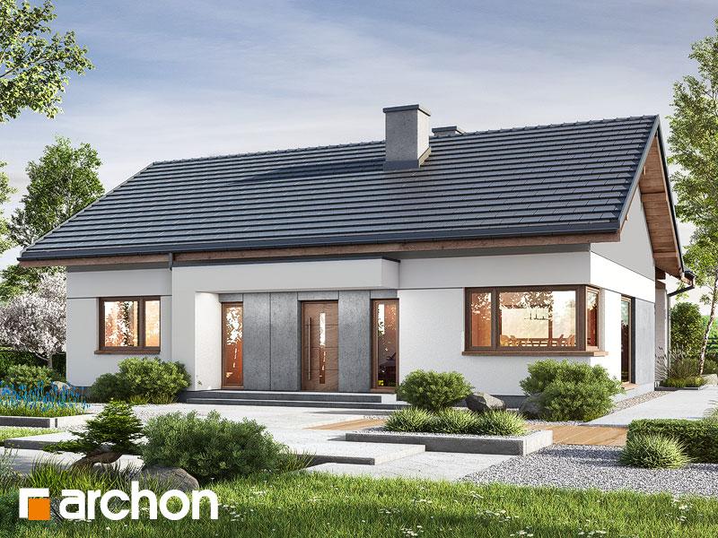 gotowy projekt Dom w kostrzewach 3 (A) widok 1