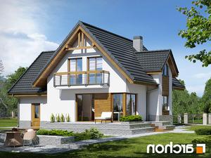 projekt Dom w morelach (N) lustrzane odbicie 2