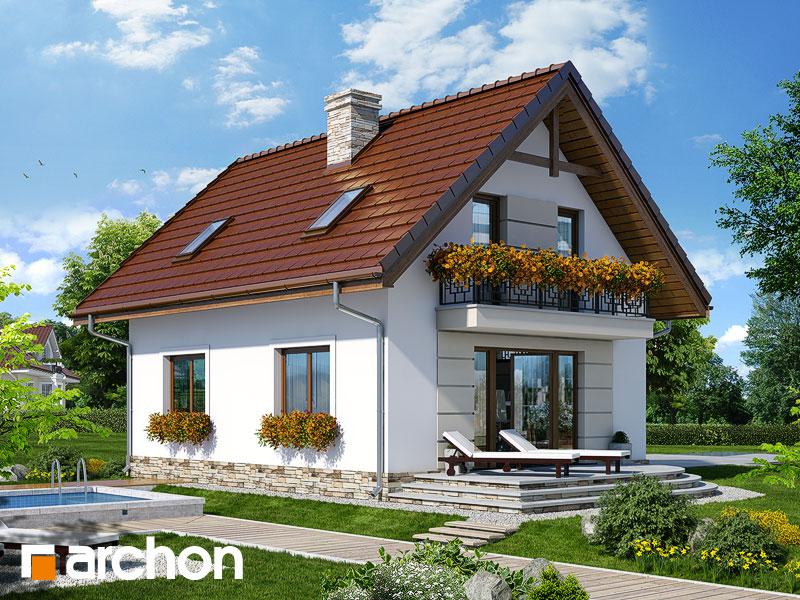 gotowy projekt Dom w lukrecji 5 (T) widok 1