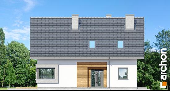 Elewacja frontowa projekt dom w szmaragdach 2  264