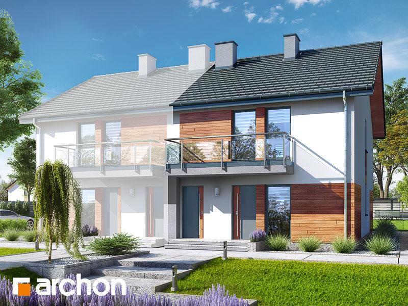 projekt Dom w bratkach (R2B) widok 1
