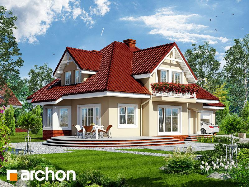 gotowy projekt Dom w lubczyku widok 2