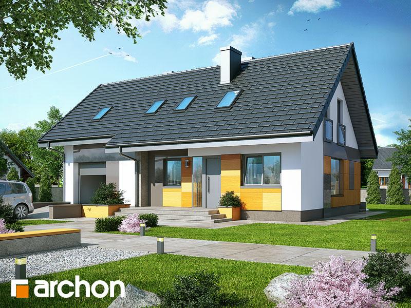 gotowy projekt Dom w pięciornikach (T) widok 1