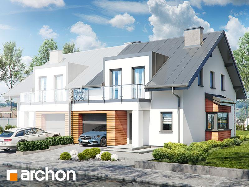 gotowy projekt Dom w klematisach 26 (B) widok 1