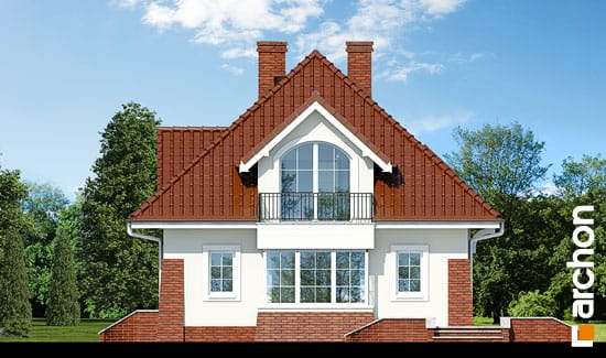 Elewacja boczna projekt dom w koniczynce ver 2  265