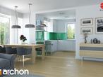 projekt Dom w koniczynce Aranżacja kuchni 1 widok 1