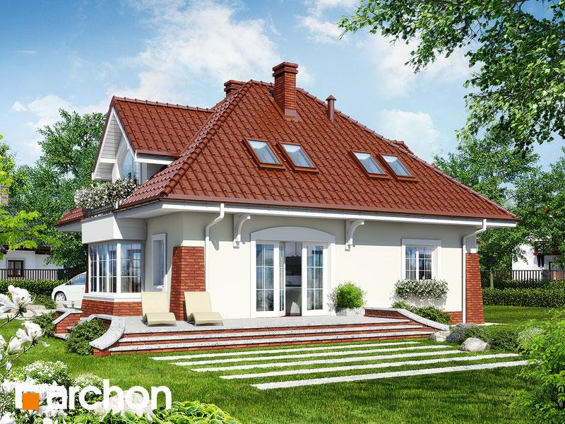 gotowy projekt Dom w koniczynce widok 1