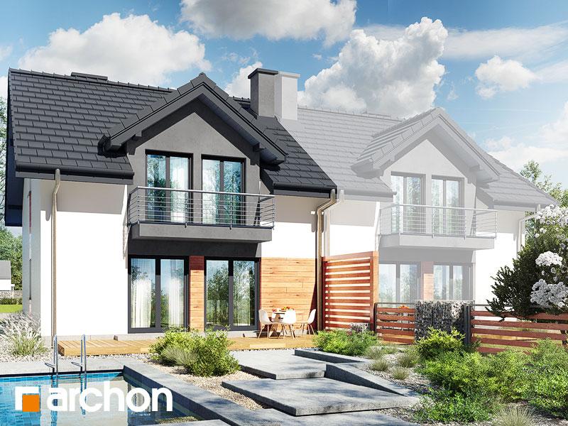 gotowy projekt Dom w klematisach 19 (B) widok 1