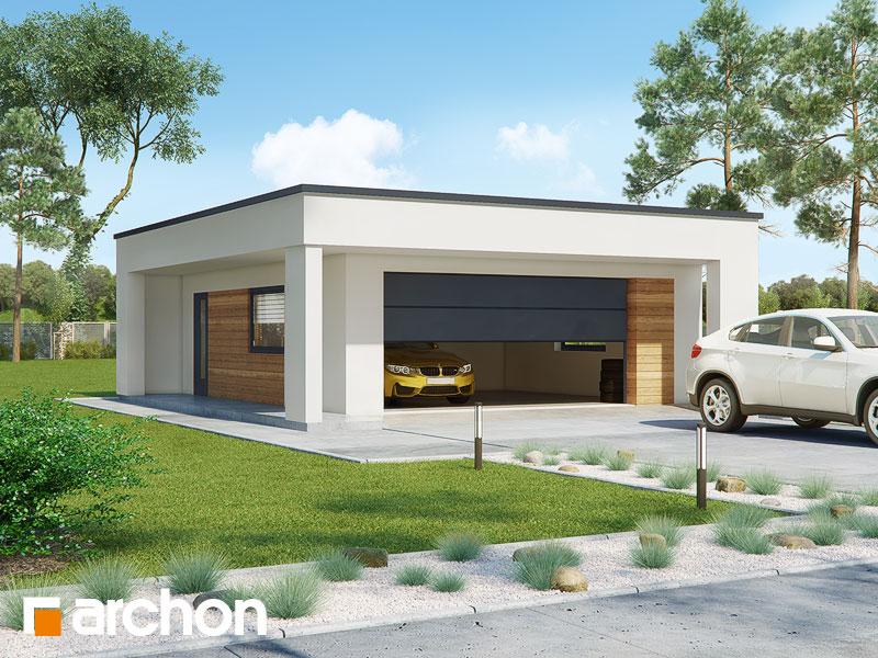 gotowy projekt Garaż 2-stanowiskowy G32 widok 1