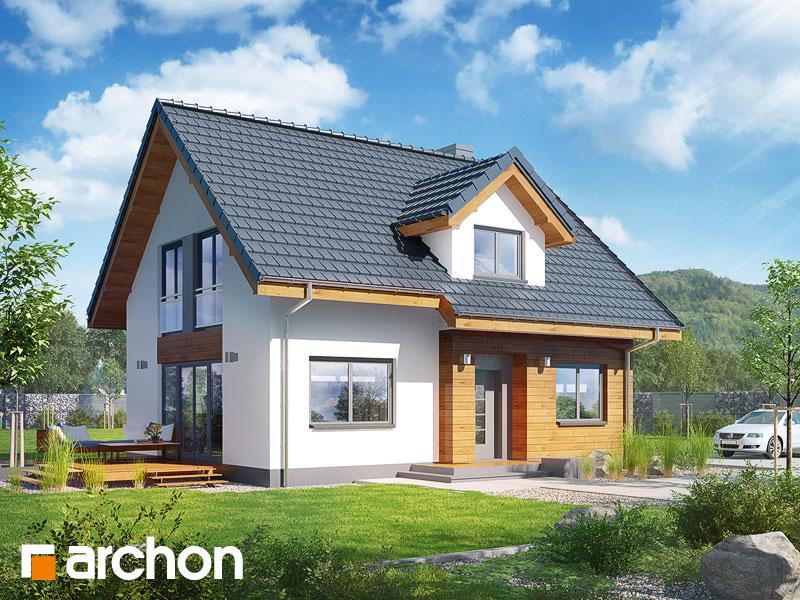 projekt Dom w zielistkach 3 (A) widok 1