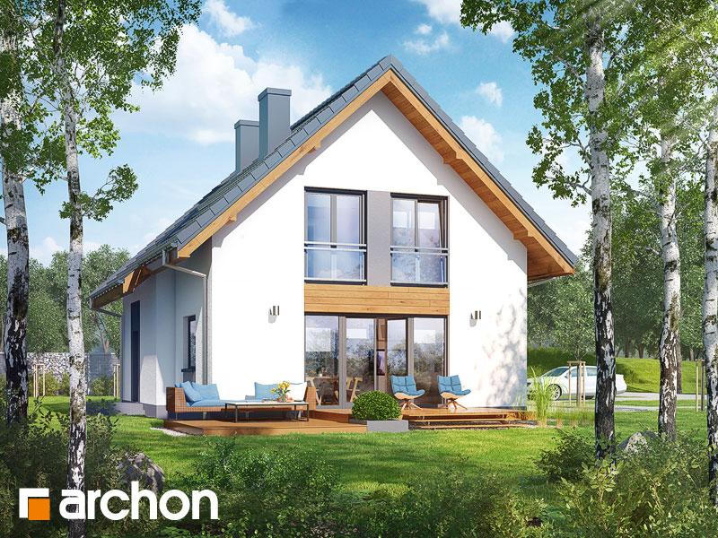 gotowy projekt Dom w zielistkach 3 (A) widok 1