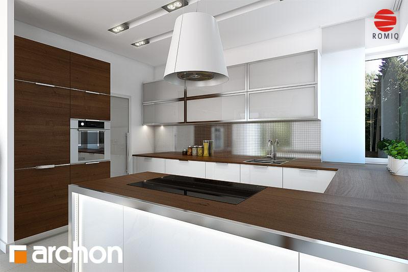 Projekt domu Willa Weronika 3 (P)  ARCHON+ -> Kuchnia Letnia Z Garażem