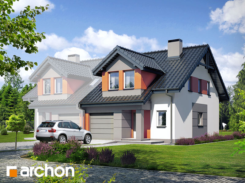 gotowy projekt Dom w klematisach 9 (AB) widok 1