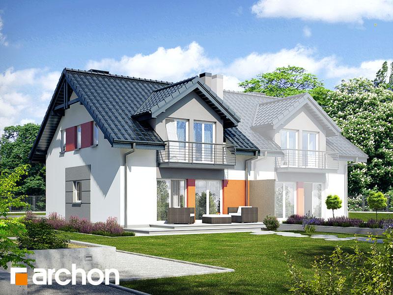 gotowy projekt Dom w klematisach 9 (AB) widok 2