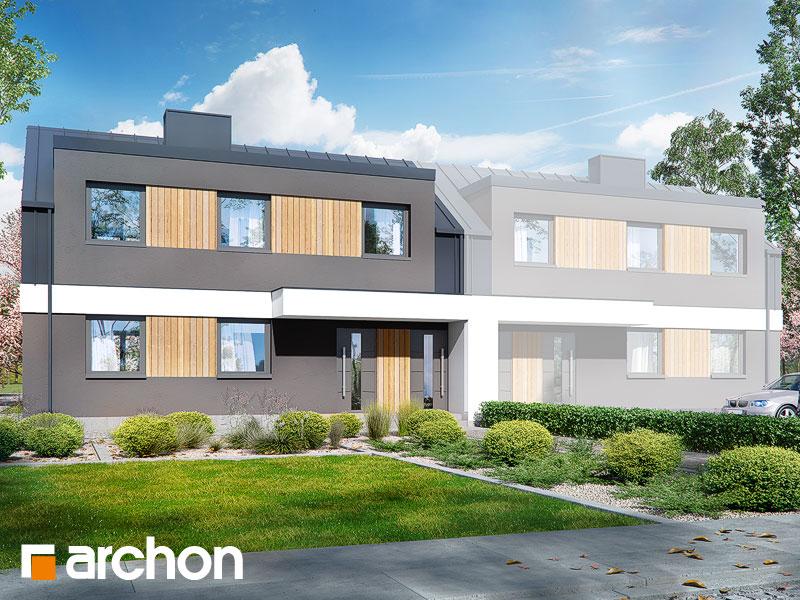 gotowy projekt Dom w halezjach 4 (R2B) widok 1