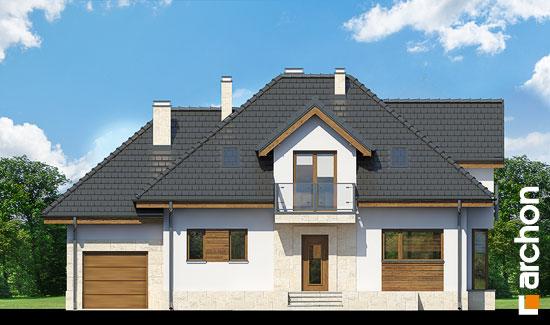 Elewacja frontowa projekt dom w werbenach n ver 2  264