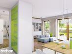 projekt Dom w werbenach (N) Strefa dzienna (wizualizacja 2 widok 2)