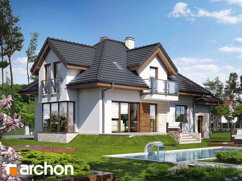 gotowy projekt Dom w werbenach (N) widok 1