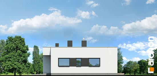Elewacja boczna projekt dom w peperomiach  265