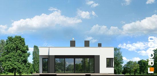 Elewacja boczna projekt dom w peperomiach  266