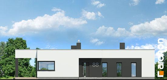 Elewacja frontowa projekt dom w peperomiach  264