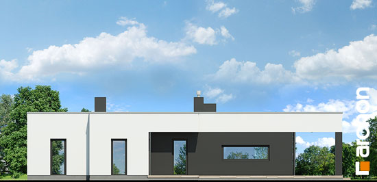 Elewacja ogrodowa projekt dom w peperomiach  267