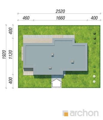 projekt Dom w peperomiach sytuacja