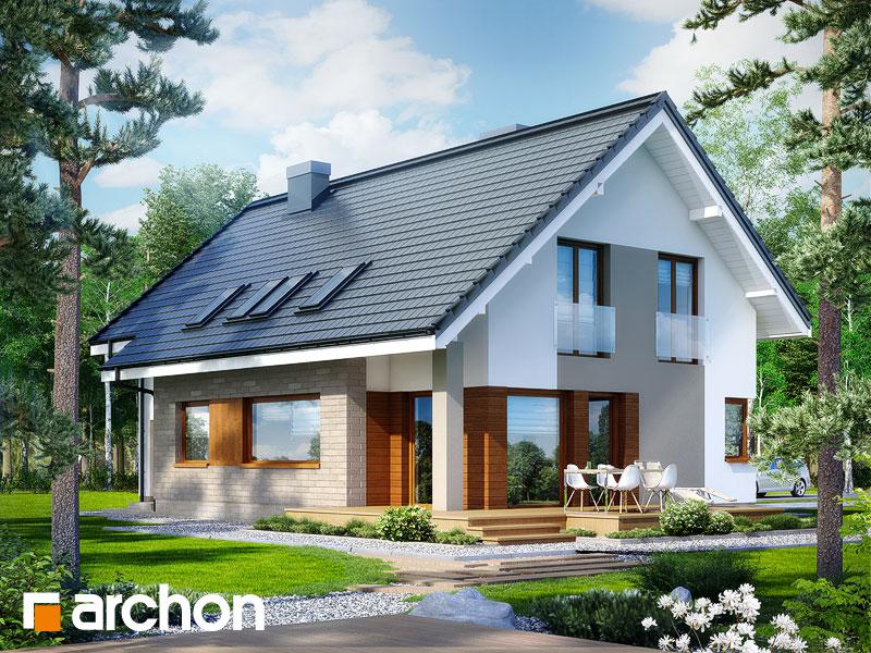 gotowy projekt Dom w miodokwiatach 2 (T) widok 1
