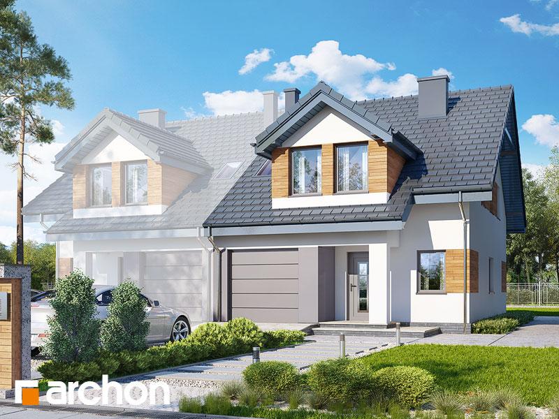 gotowy projekt Dom w klematisach 12 (B) widok 1