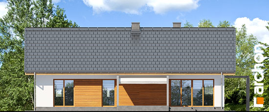 Elewacja ogrodowa projekt dom w mekintoszach wp  267
