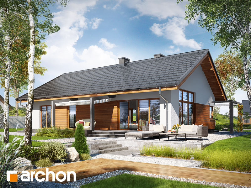 gotowy projekt Dom w mekintoszach (WP) widok 1