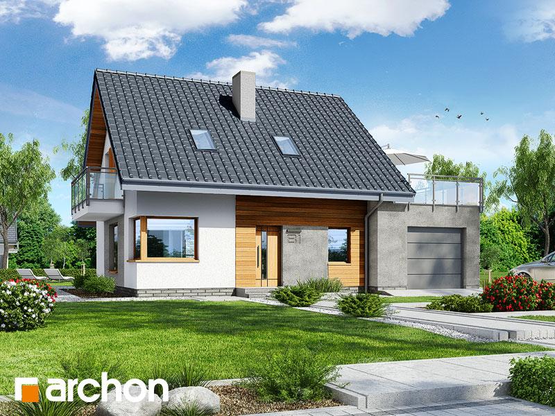 gotowy projekt Dom w akantach 2 widok 1