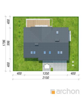 projekt Dom w żurawkach 9 sytuacja