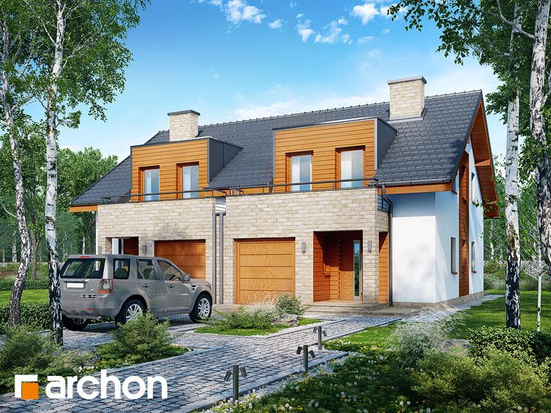 gotowy projekt Dom w klematisach 18 widok 1