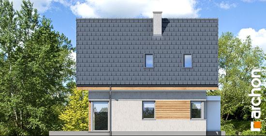 Elewacja boczna projekt dom na wzgorzu n  265