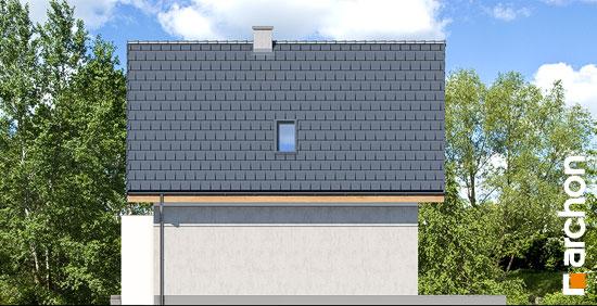 Elewacja boczna projekt dom na wzgorzu n  266